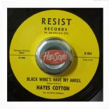 "45Re ✦ HAYES COTTON ✦ ""Black Wings Have My Angel/I'll Be Waiting"" Stunning R&B ♫"